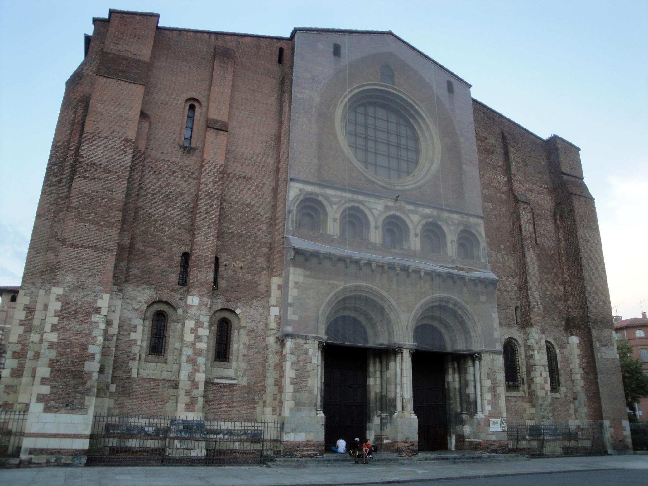 06.09.2011 Sant Serni en la seva façana d'ingrés occidental.  Tolosa del Llenguadoc -  Jordi Bibià