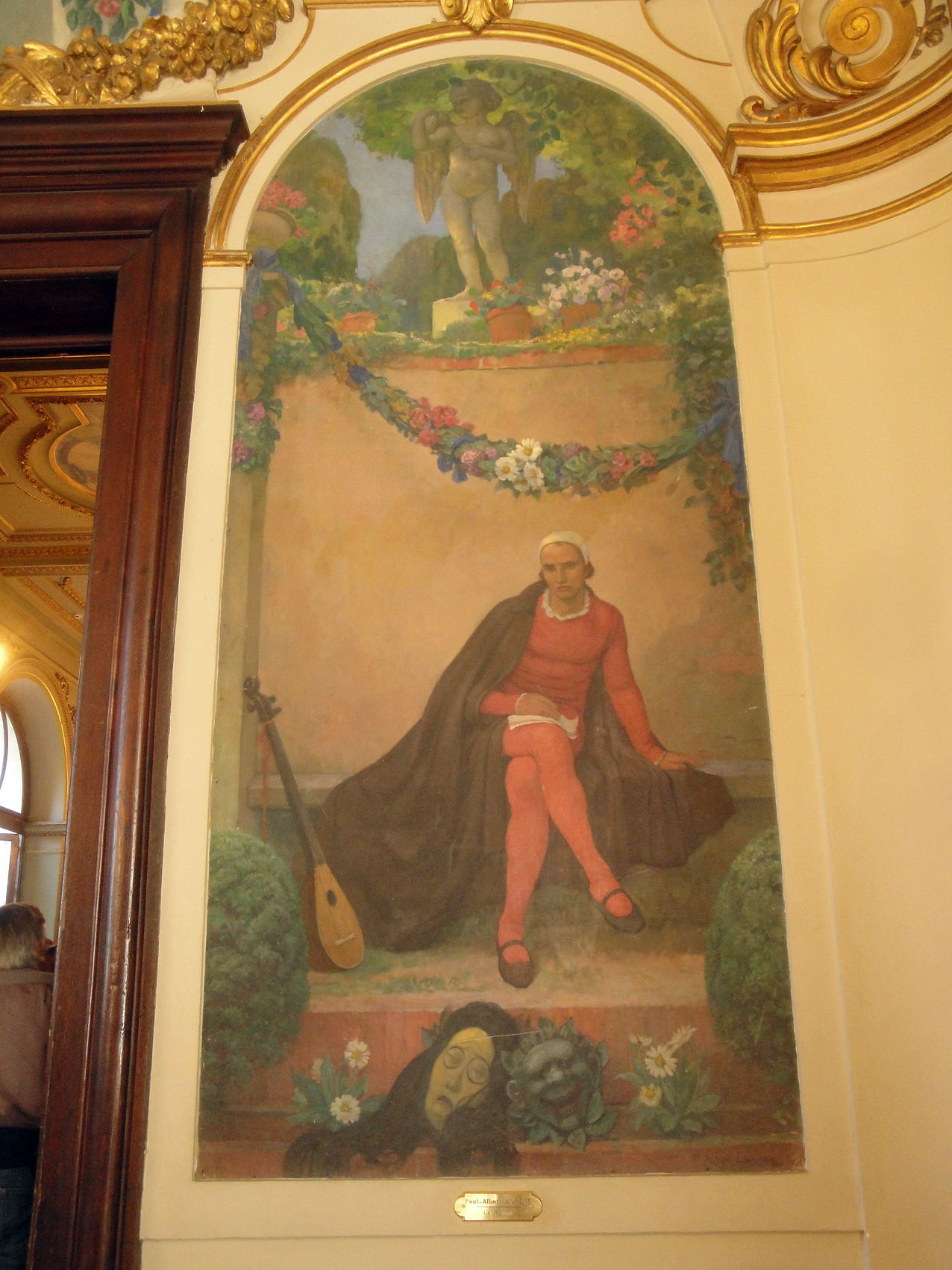 07.09.2011 Pintura localitzada a l'interior del Capitoli. En aquesta, no podia faltar la representació del poeta.  Tolosa del Llenguadoc -  Jordi Bibià