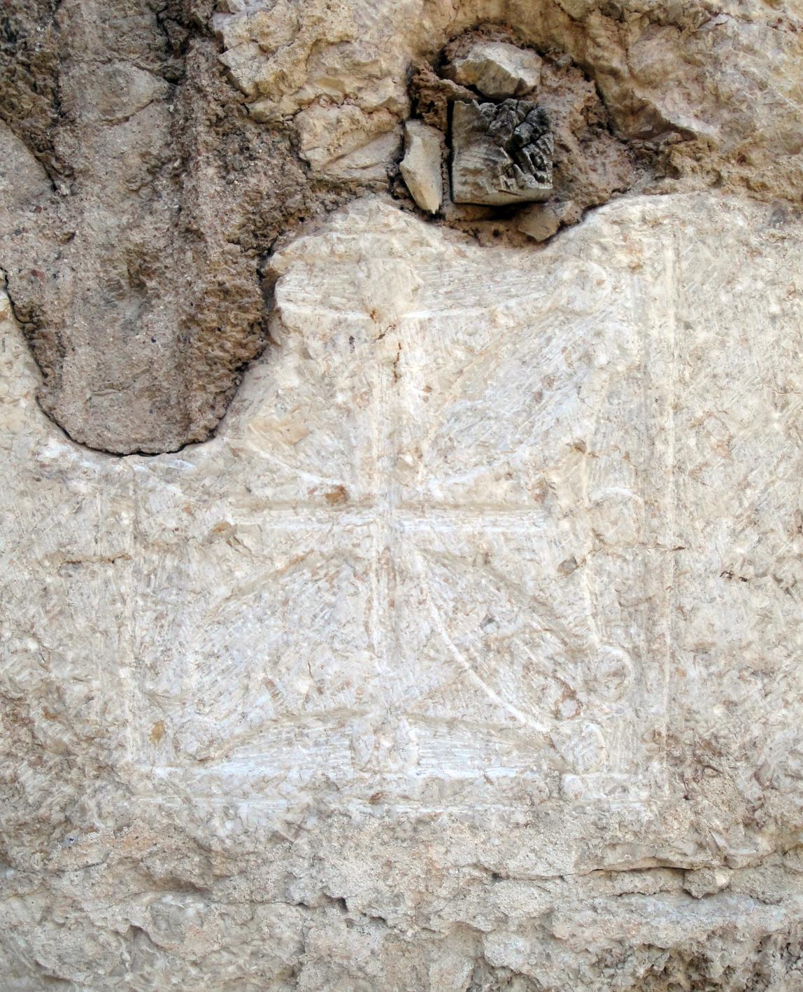 17.06.2012 Creu de Tolosa, molt similar a la creu dels Trinitaris d'Avinganya (Segrià)  Claustre de Sant Francesc -  Jordi Bibià