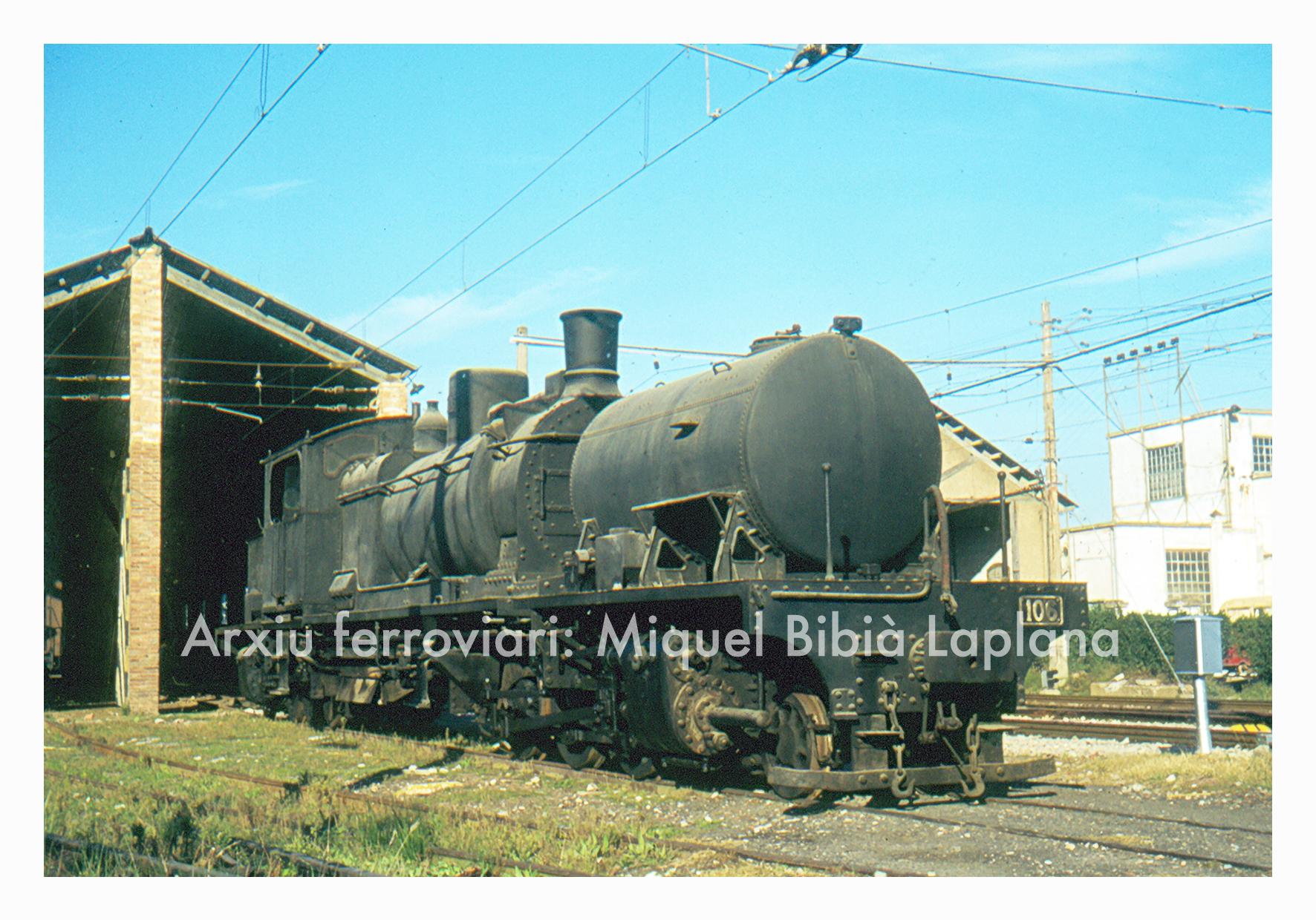 12.10.2013 Ferrocarrils catalans. (Font: diapositiva)  La Garrat 106 a Sant Boi -  Miquel Bibià Laplana