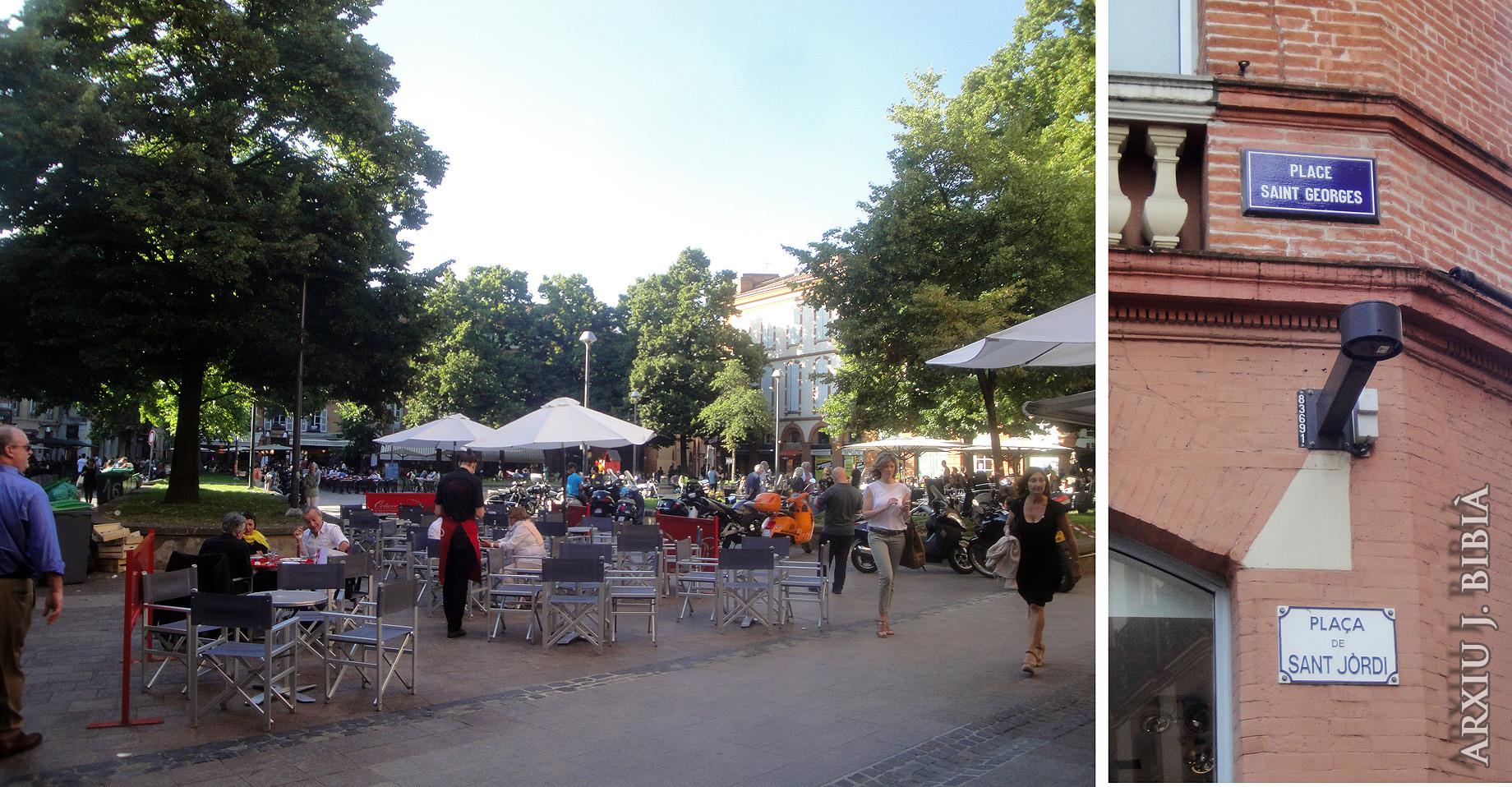 02.07.2013 Plaça de Sant Jordi.  Tolosa del Llenguadoc. -  Jordi Bibià