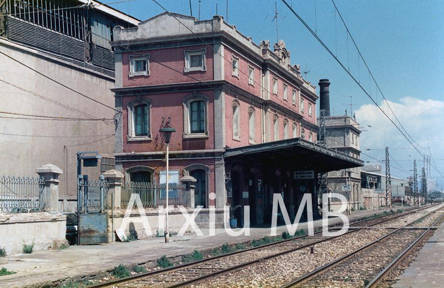 25.09.2014 Estació del Poblenou. Poc abans del seu enderrocament. Any 1989.  Poblenou. Barcelona. -  Miquel Bibià
