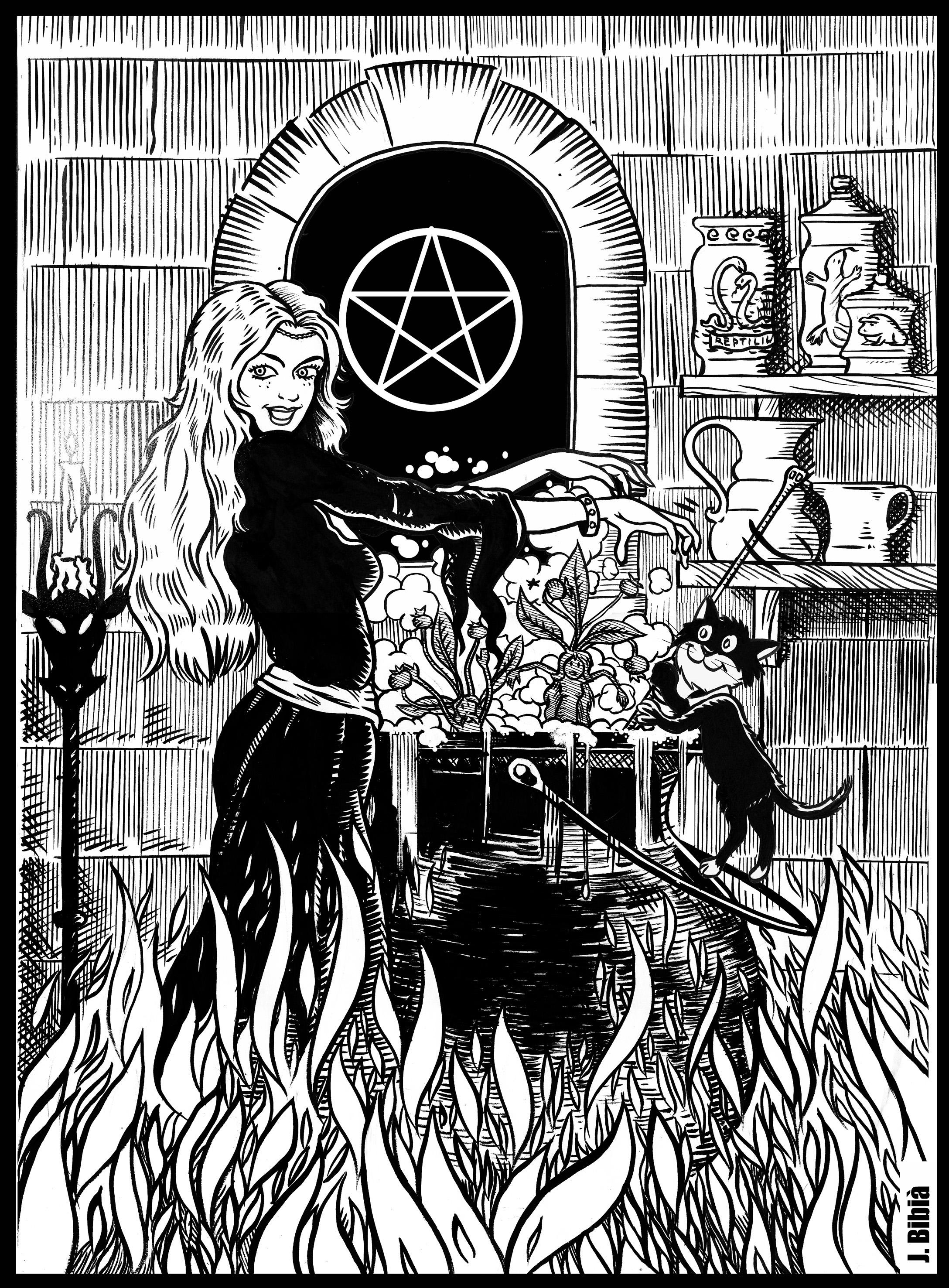 29.04.2017 Una bruixa al seu lloc de treball  -  JordiBibià