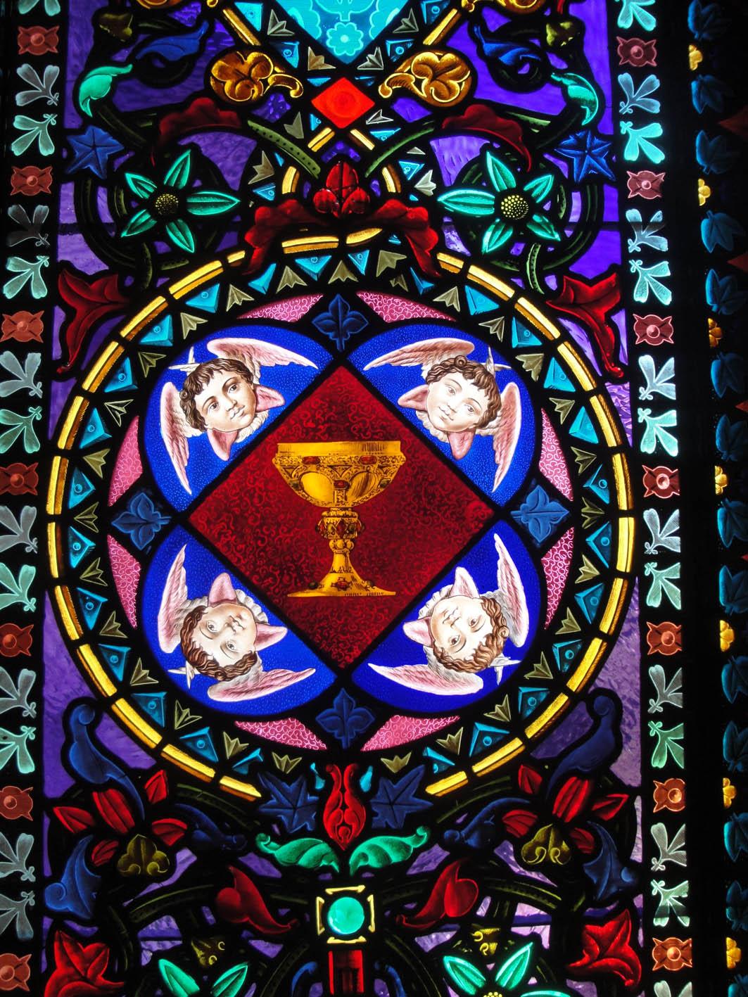 31.08.2017 El Sant Calze en una vidriera.  Montserrat -  Jordi Bibià