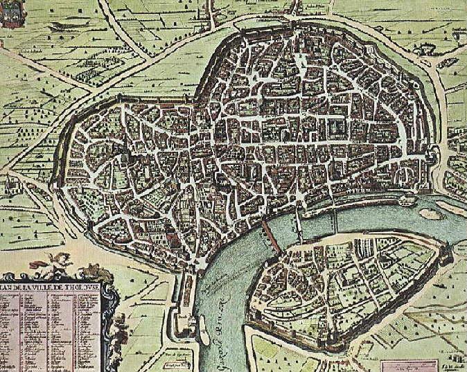 27.09.2017 Tolosa en un plànol del 1631  -  Font: wikipèdia