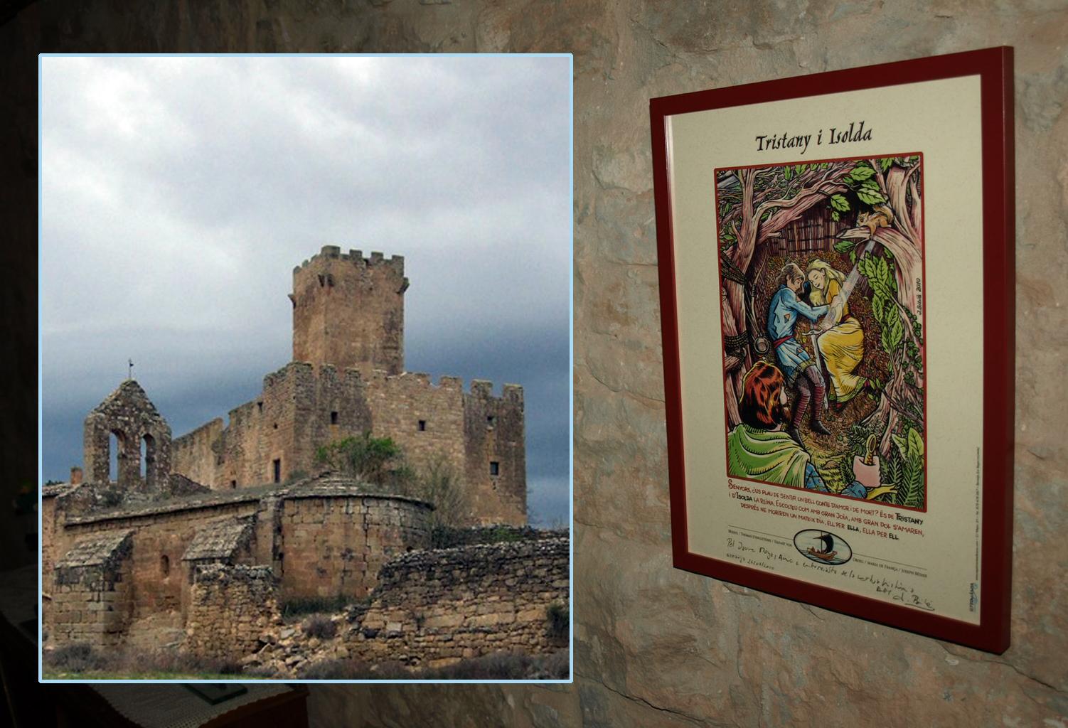 03.12.2017 El meu pòster de Tristany i Isolda al castell.  Castell de les Sitges. La Segarra. -  Jordi Bibià