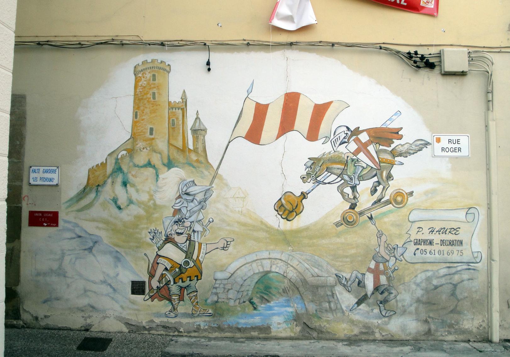 29.07.2018 Un mural urbà.  Centre de Foix. -  Jordi Bibià