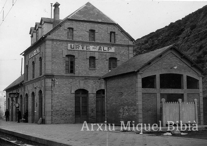 22.04.2019 Primers anys '50.  Estació de Urtg-Alp -  Miquel Bibià Laplana