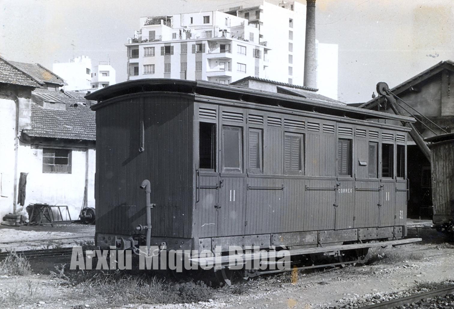 24.01.2020 Vagó mixte passatgers i correus.  Palma de Mallorca -  Miquel Bibià Laplana