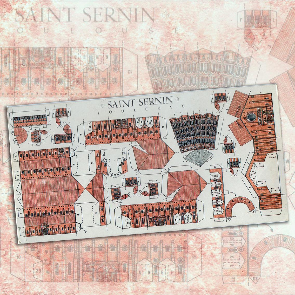 31.01.2021 Reatallable de Sant Serni de Tolosa. Dors d'una postal.  -  Autor