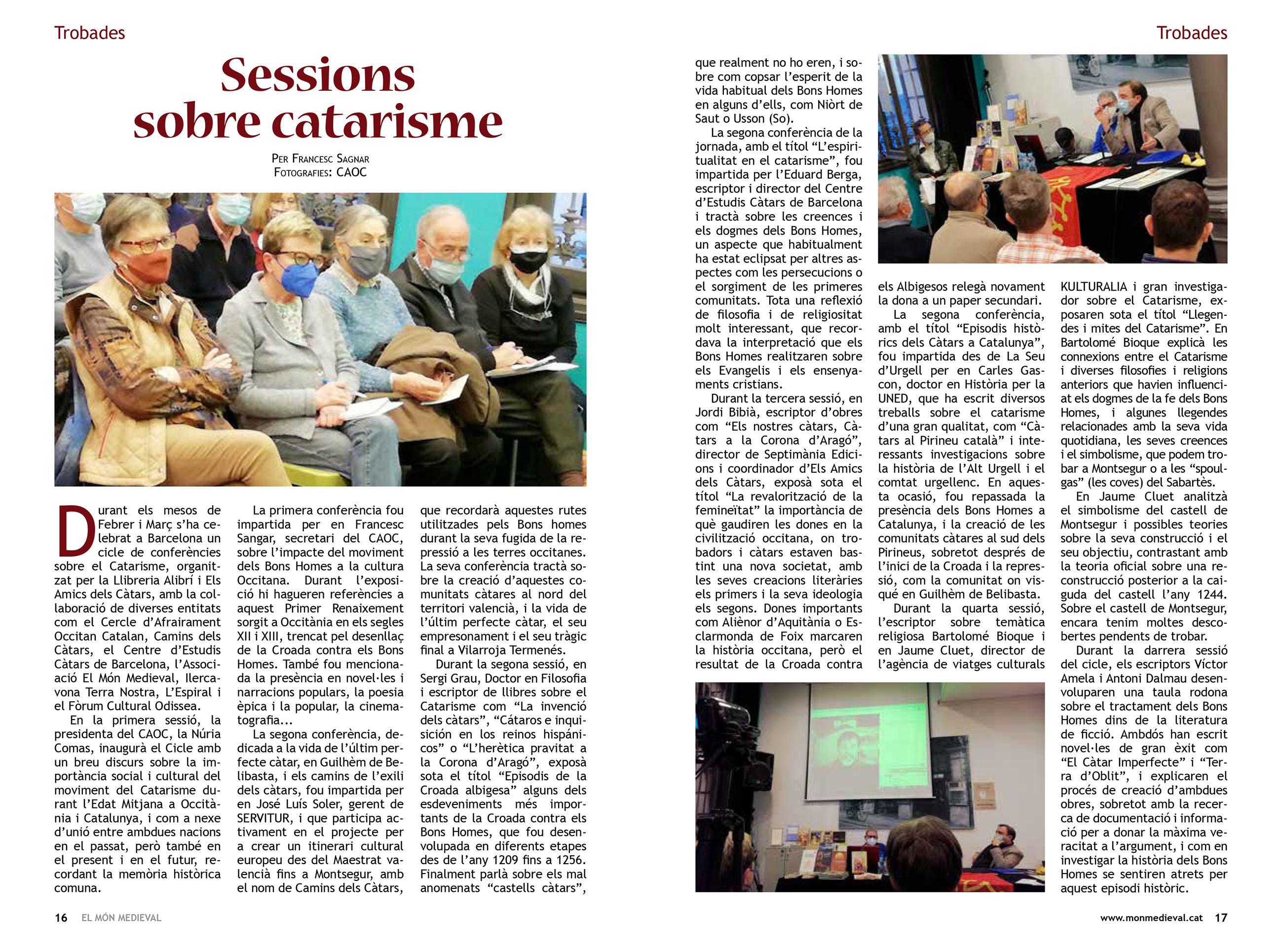 15.07.2021 Article publicat a la revista MÓN MEDIEVAL  -  Francesc Sangar